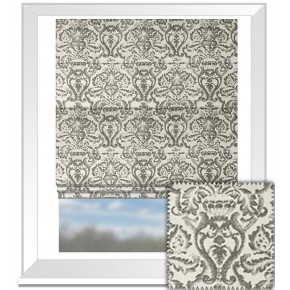 Clarke and Clarke BW1019 Black and White Roman Blind