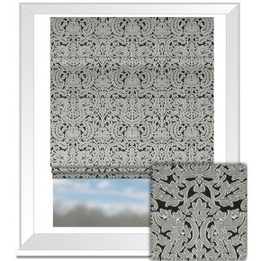 Clarke and Clarke BW1020 Black and White Roman Blind
