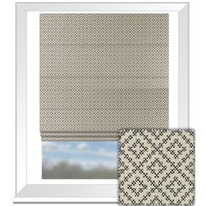 Clarke and Clarke BW1021 Black and White Roman Blind