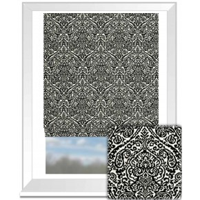 Clarke and Clarke BW1023 Black and White Roman Blind