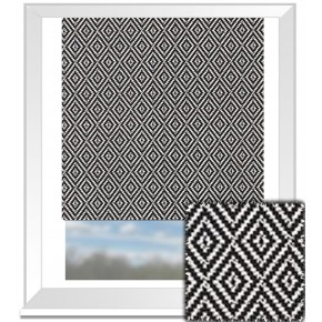 Clarke and Clarke BW1025 Black and White Roman Blind