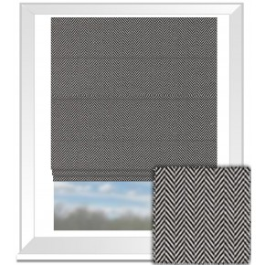 Clarke and Clarke BW1026 Black and White Roman Blind