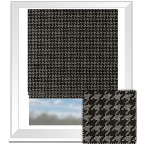 Clarke and Clarke BW1027 Black and White Roman Blind