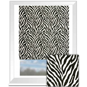Clarke and Clarke BW1029 Black and White Roman Blind