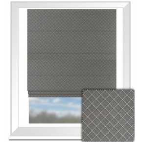 Clarke and Clarke BW1031 Black and White Roman Blind