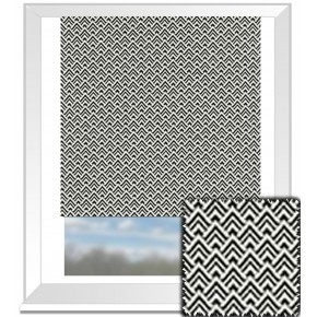 Clarke and Clarke BW1032 Black and White Roman Blind