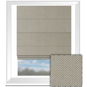 Clarke and Clarke BW1033 Black and White Roman Blind