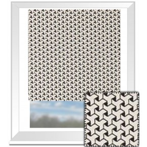 Clarke and Clarke BW1034 Black and White Roman Blind
