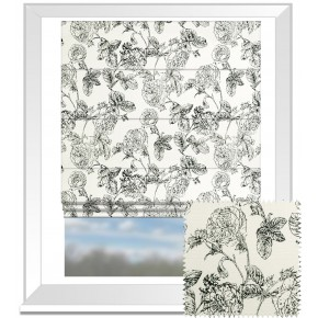 Clarke and Clarke BW1035 Black and White Roman Blind