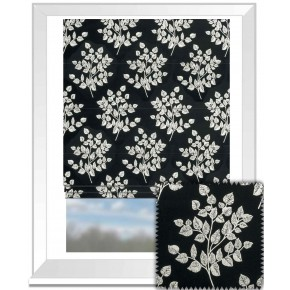 Clarke and Clarke BW1036 Black and White Roman Blind
