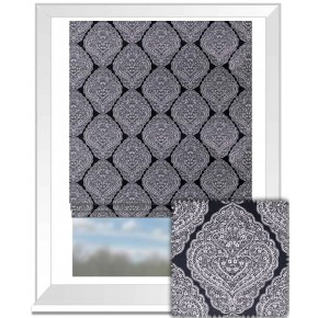 Clarke and Clarke BW1037 Black and White Roman Blind
