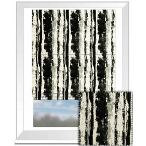 Clarke and Clarke BW1038 Black and White Roman Blind