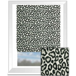 Clarke and Clarke BW1039 Black and White Roman Blind