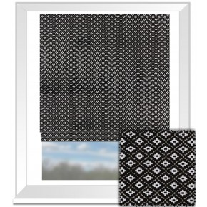 Clarke and Clarke BW1040 Black and White Roman Blind
