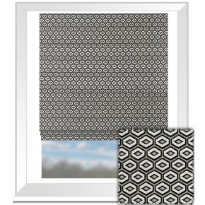 Clarke and Clarke BW1041 Black and White Roman Blind