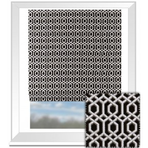 Clarke and Clarke BW1042 Black and White Roman Blind