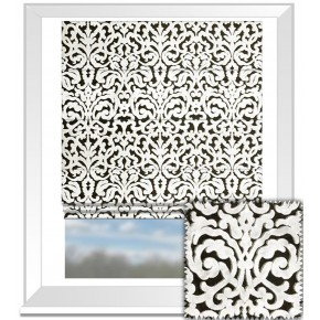 Clarke and Clarke BW1043 Black and White Roman Blind