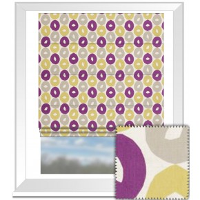 Clarke and Clarke La Vie Byblos Berry Roman Blind