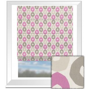 Clarke and Clarke La Vie Byblos Candy Roman Blind