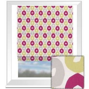 Clarke and Clarke La Vie Byblos Summer Roman Blind