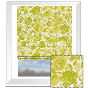 Clarke and Clarke Artbook Caitlin Linen Citrus Roman Blind