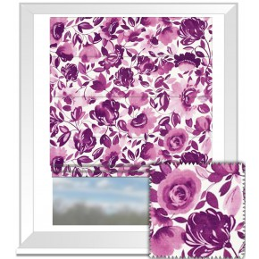 Clarke and Clarke Artbook Caitlin Linen Passion Roman Blind