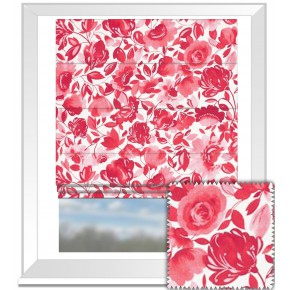 Clarke and Clarke Artbook Caitlin Linen Raspberry Roman Blind