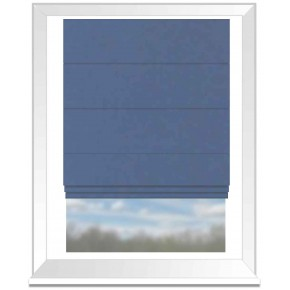 Clarke and Clarke Glenmore Caledonia Denim Roman Blind