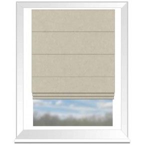 Clarke and Clarke Glenmore Caledonia Natural Roman Blind