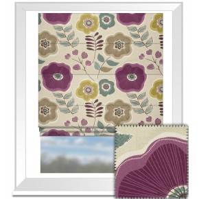 Clarke and Clarke Cariba Calypso Heather Roman Blind