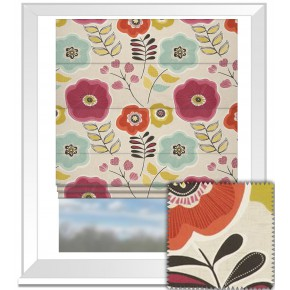 Clarke and Clarke Cariba Calypso Summer Roman Blind