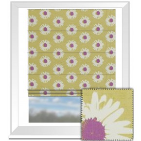Clarke and Clarke La Vie Capri Berry Roman Blind