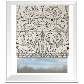 Clarke and Clarke Chateau Chateau Linen Roman Blind