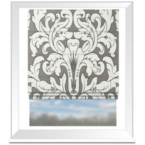 Clarke and Clarke Chateau Chateau Smoke Roman Blind
