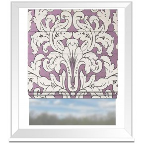 Clarke and Clarke Chateau Chateau Violet Roman Blind