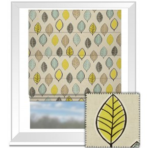 Clarke and Clarke Cariba Coco Chartreuse Roman Blind