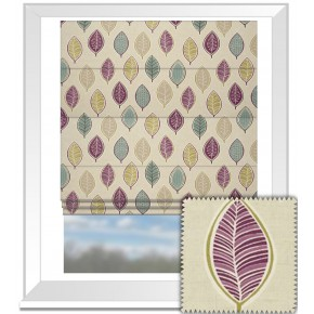 Clarke and Clarke Cariba Coco Heather Roman Blind
