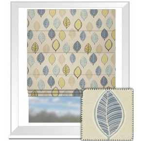 Clarke and Clarke Cariba Coco Mineral Roman Blind