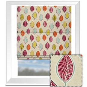 Clarke and Clarke Cariba Coco Summer Roman Blind