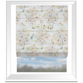 Country Garden Coppice Autumn Cream Roman Blind