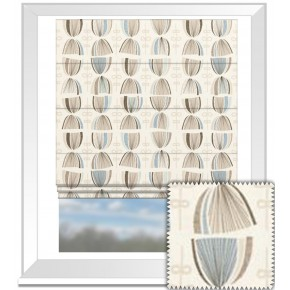 Clarke and Clarke Festival Cosmos Mineral Roman Blind