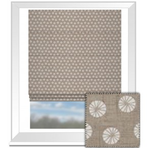 Clarke and Clarke Cariba Daiquiri Mocha Roman Blind