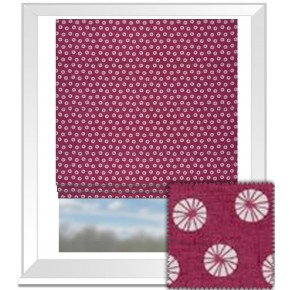 Clarke and Clarke Cariba Daiquiri Raspberry Roman Blind