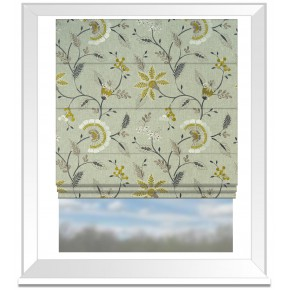 Clarke and Clarke Halcyon Delamere Chartreuse Roman Blind