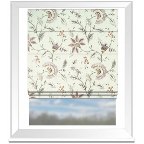 Clarke and Clarke Halcyon Delamere Heather Roman Blind