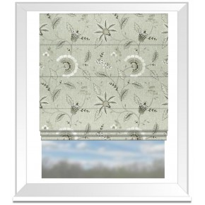 Clarke and Clarke Halcyon Delamere Natural Roman Blind