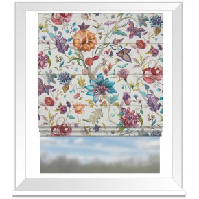 Country Garden Delilah Summer Cream Roman Blind