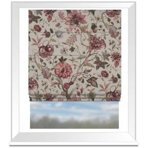 Country Garden Delilah Winterberry Linen Roman Blind