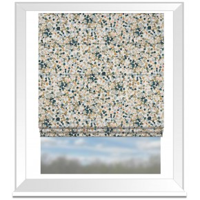 Country Garden Droplet  Cream Roman Blind