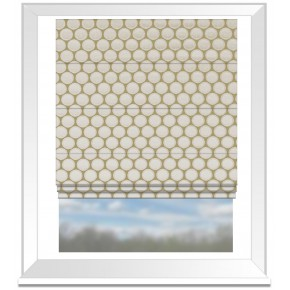 Clarke and Clarke Imperiale Duomo Ivory Roman Blind